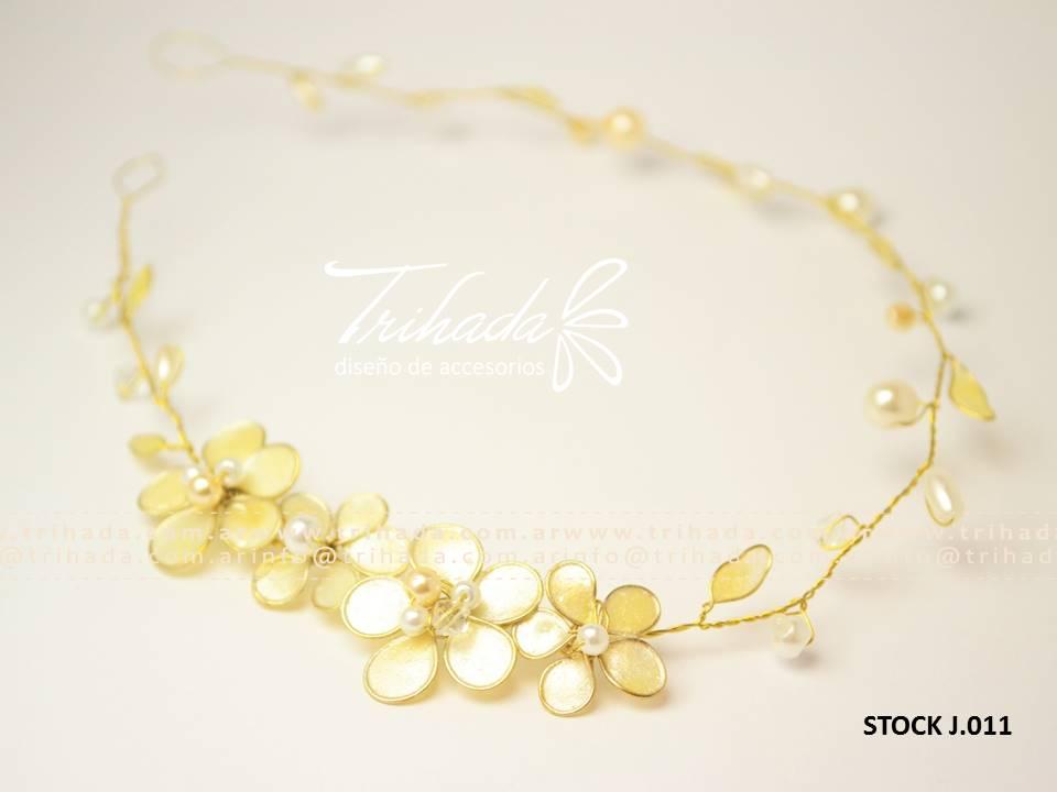 Mini tiara cortejo dorada