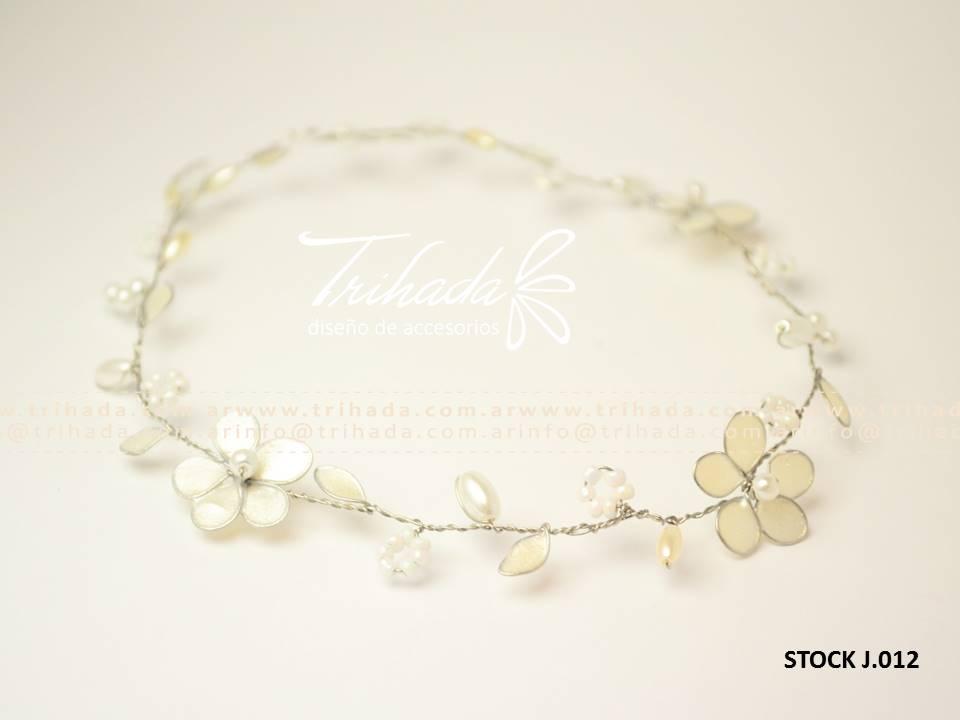 Mini tiara cortejo perlas