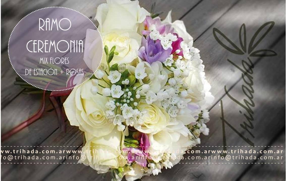 Bouquet de ceremonia rosas y fresias
