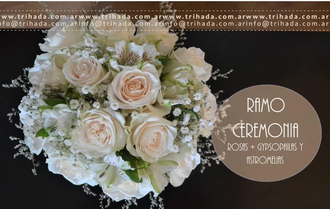 Bouquet de ceremonia rosas y astromelias