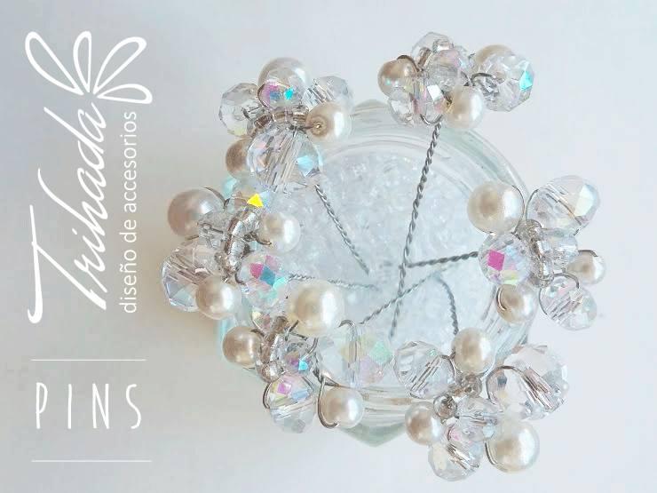 Pins Cristal o perlas