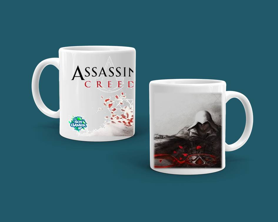 Taza Soy Gamer Diseño Assassins Creed