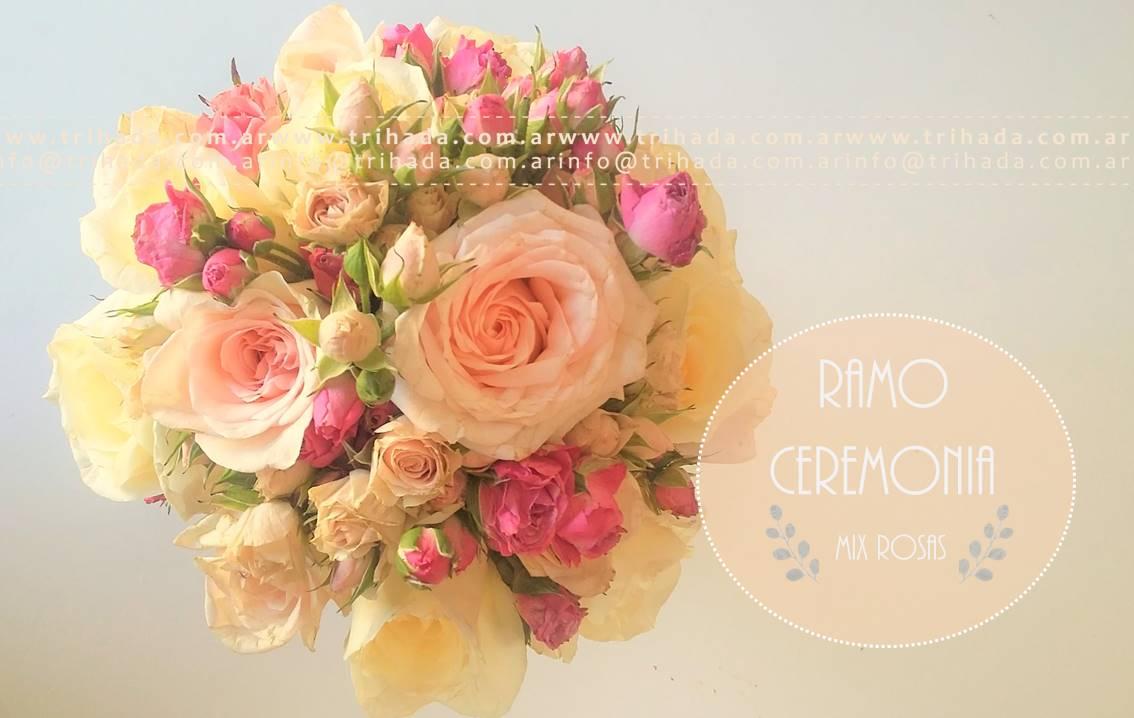 Ramo de ceremonia rosas importadas y rococo